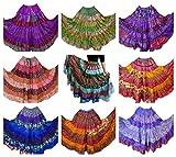 Pack de 10 – 7 Patio Tribal Gitano Maxi niveles falda danza del vientre faldas seda mezcla Banjara para S M L