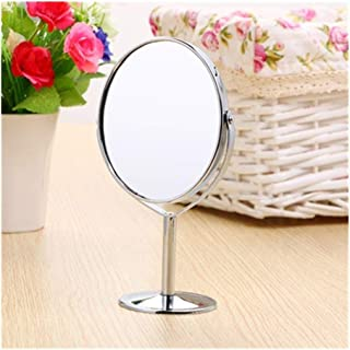 YXZQ Makeup Mirror, 180 Rotation Portable Beauty Makeup Cosmetic Mirror Double-Sided Stand Rotatable Vanity Mirror (Color : Oval)
