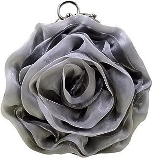 Mily Womens Satin Evening Bag Flower Shaped Wristlet