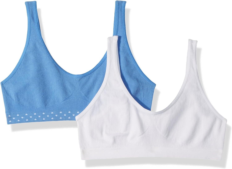 Hanes Big Girls Seamless Comfortflex Fit Cozy Pullover Bra 2-pack