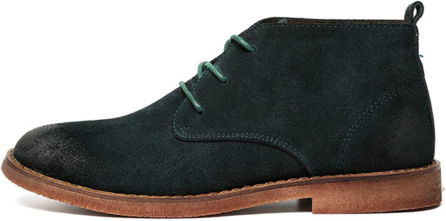 ZQ@QXLeather casual shoes men's shoes and warm tide of Korean men's cashmere
