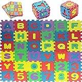 36PCS Suave Espuma De Eva Seguro Tapete De Juegos Aprendizaje Abecedario Número Puzle Rompecabezas para bebé para Niños GB por Trimmingshop - Large