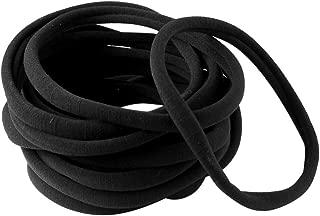 XIMA Highest Quality Nylon Headband Fits All Baby And Newborn DIY Nude Headband (Black-40pcs)