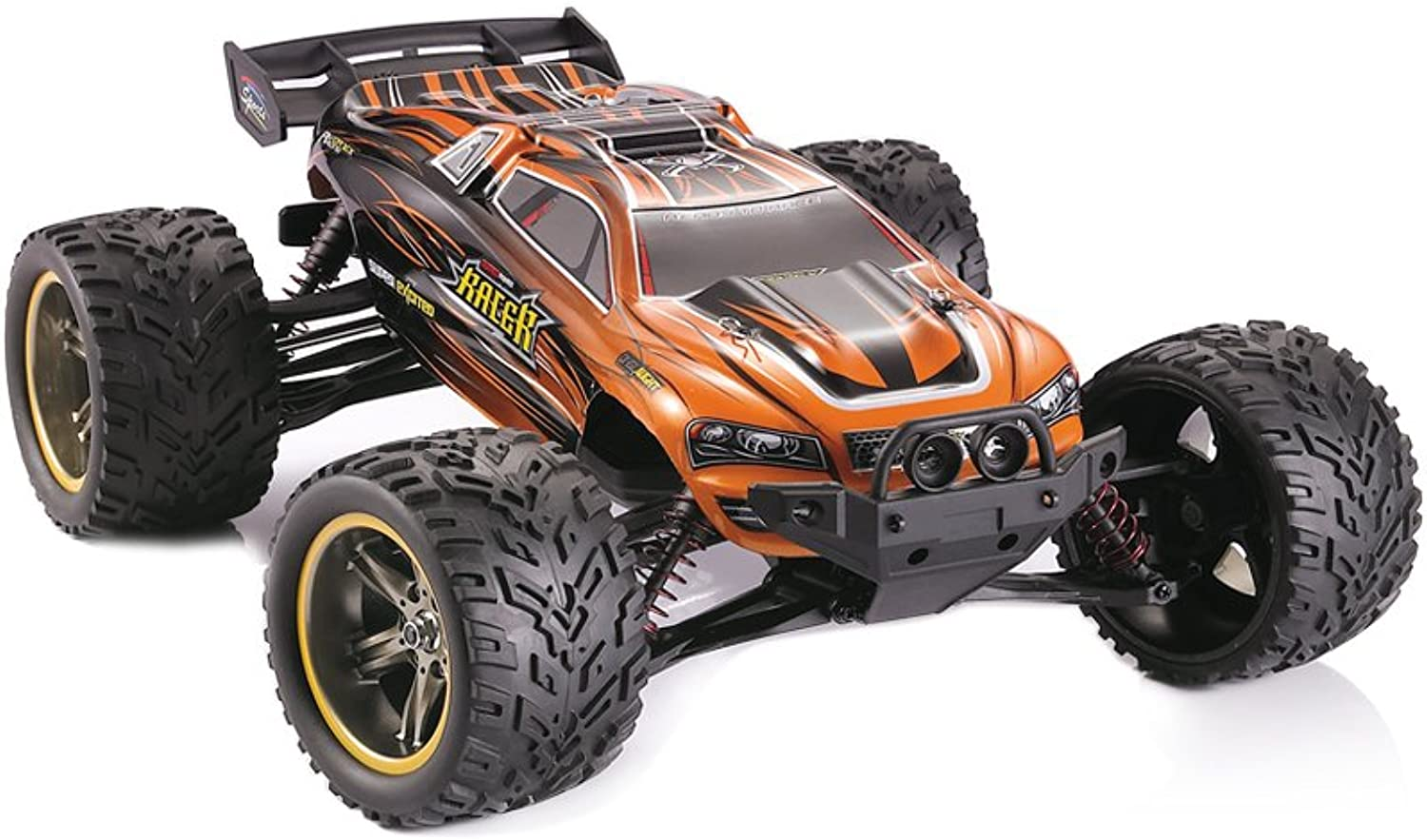 Generic New 1 12 45km h Gptoys S912 9116 2.4G 2WD RC Monster Truck Crawler Drift Controle Remoto Bigfoot Speed Waterproof and Shockproof Sweet orange
