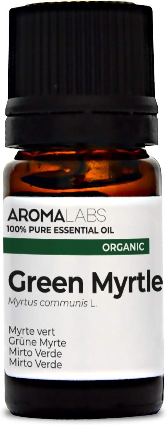 Mirto Verde BIO - 5ml - Aceite esencial 100% natural y BIO - calidad verificada por cromatografía - Aroma Labs