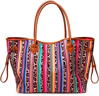 Large Casual Tote Bag Beach Bag Multi-Color Design Lightweight Market Grocery & Picnic Tote Weekend handbag for Women