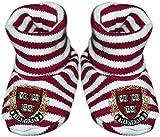 Harvard University Crest Newborn Baby Striped Bootie Sock