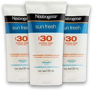 Kit com 3 Protetores Solar NEUTROGENA Sun Fresh FPS 30 120ml