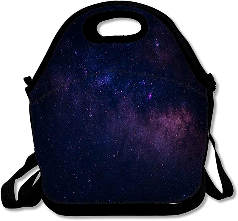 Lunch Bags For Women Insulated Blue Space Sky Night Star Galaxy Nature Dark Universe Black Bright Astrology Design Lunch Box Tote For Work Or School