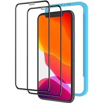 【ガイド枠付き】【2枚セット】 Nimaso iPhone 11 / XR 用 全面保護 フィルム ガラスフィルム フルカバー