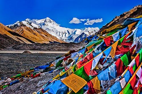 Tibetisch-buddhistischen Gebetsfahnen–Wind Pferd 14cm x 17cm (25Flaggen) -5m Gesamtlänge