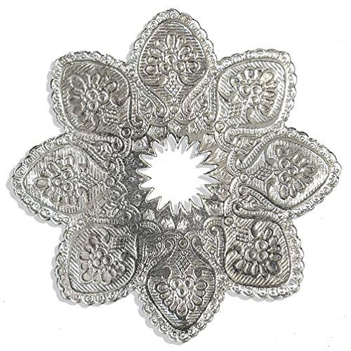 Kunze Kerzenmanschette Ø 10 cm, 5 Stück (Silber)