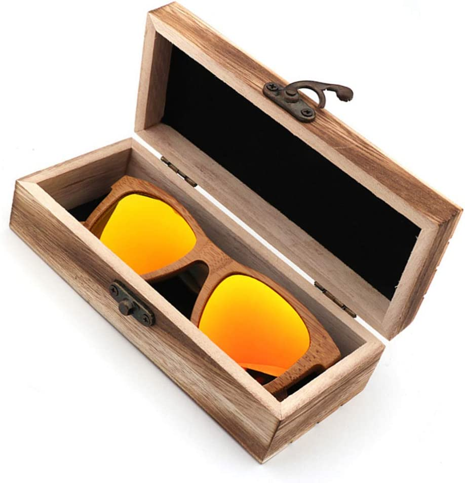 TOPBATHY 1Pc Bamboo Wood Glasses Case, Spectacle Case Box,Eyeglass Case,Glasses Container for Men Women Friends