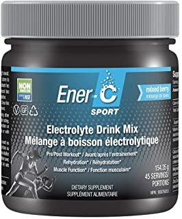 Ener-C - Sport Electrolyte Drink Mix Powder, Supports Muscle Function and Hydration, Low Sugar, Caffeine Free, Mixed Berry...