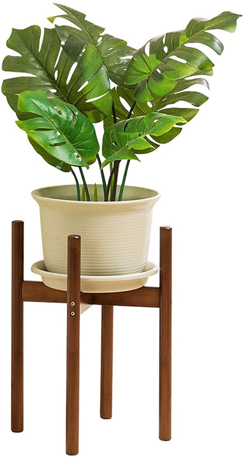 Bamboo Material Flower Shelf Solid Wood Living Room Storage Decoration Floor-Mounted Storage Rack Load-Bearing Strong Flower Stand (Size   M)