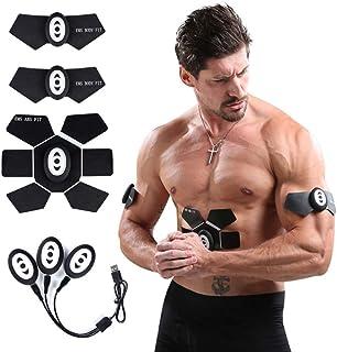 ADLIN Muscular eléctrica ccsme eléctrica Estimulador Abs Cinta Ajustar, Abdominal/Brazo/Pierna Equipo de la Aptitud Cinturón de Masaje