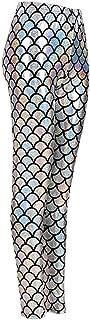 Eshoppingwarehouse Pantalones de discoteca para mujer, elásticos, ajustados, metálicos, brillantes