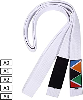 WSULMENG Jiu Jitsu Belt, Unisex Pearl Weave BJJ Belt, Perfect for Training or Competition