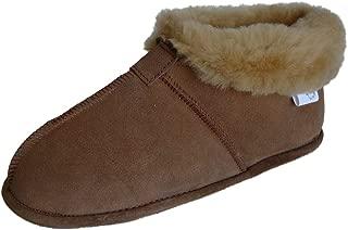 WoolWorks Model 9778 Womens Australian Sheepskin Slippers - Soft Leather Sole