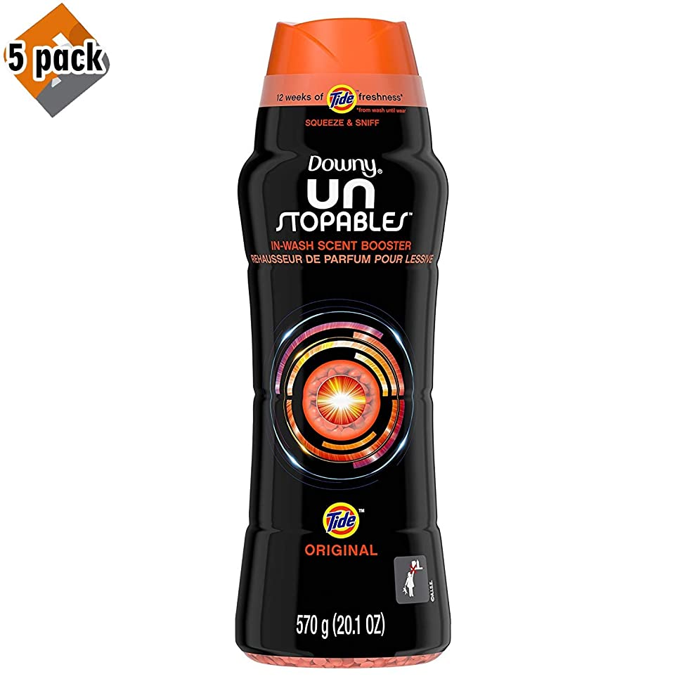 Downy Unstopables in-Wash Scent Booster Beads with Tide Original Scent, 20.1 oz - 5 Pack