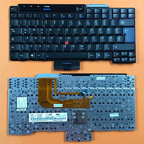 kompatibel für Lenovo ThinkPad X300, X301 Tastatur - Farbe: schwarz - mit Stick-Point - Deutsches Tastaturlayout