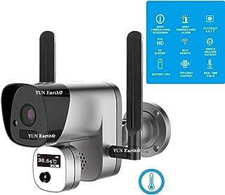 WIFI IR解像度サーマルカメラ、ポータブル赤外線カメラ、赤外線画像解像度1920x1080P-温度測定、オフィス、産業、駅の出入り口用[TP-ZO11]...