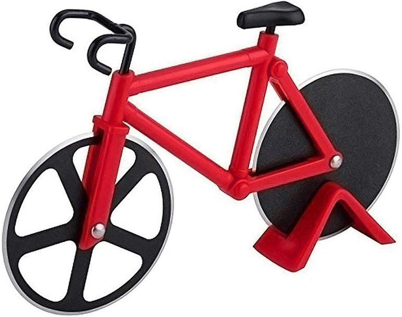 WUANNI Bike Pizza Cutter Radfahrergitter, Bike Pizza Pizza Pizza Slicer Dual Edelstahl Antihaftschneider Räder Mit Einem Stand Für Urlaub Hauswärme Küche Gadget (2 Pcs),rot B07L8RDN35 699f9a