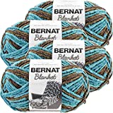 Bernat Mallard Wood, Blanket Big Ball Yarn, Multipack of 4, 4 Pack