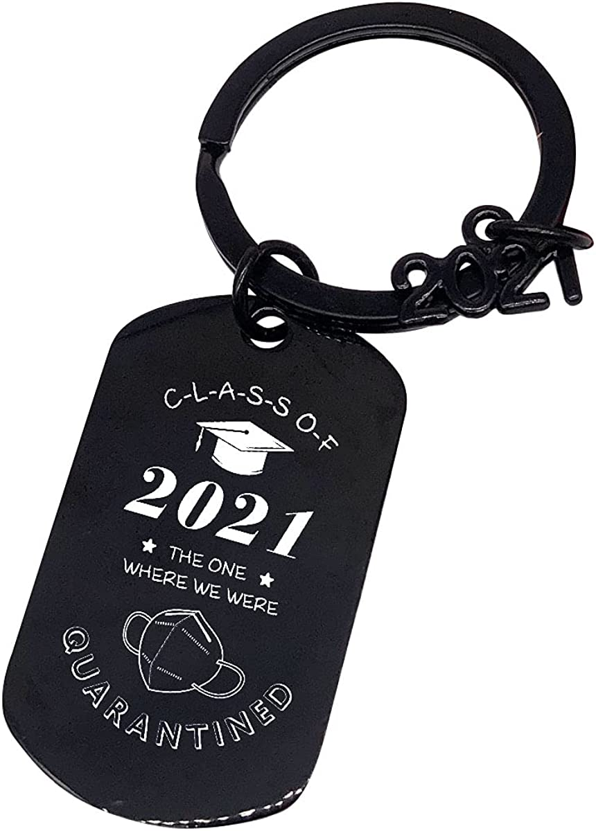 2021 Graduation Keychain, College Graduate Keyring,Class of 2021 Newest Designed Key Chain, Graduation Party Supplies,Grad Idea for Him or Her Lucky Penny Birthday Keyrings,Black keychain