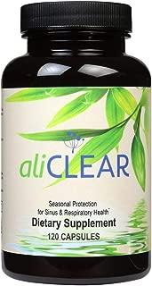 AliClear® Sinus & Respiratory Defense Supplement, Antioxidant and Skin Support   Butterbur, Quercetin, Bromelain, Vitamin C, Magnesium - 120 Capsules