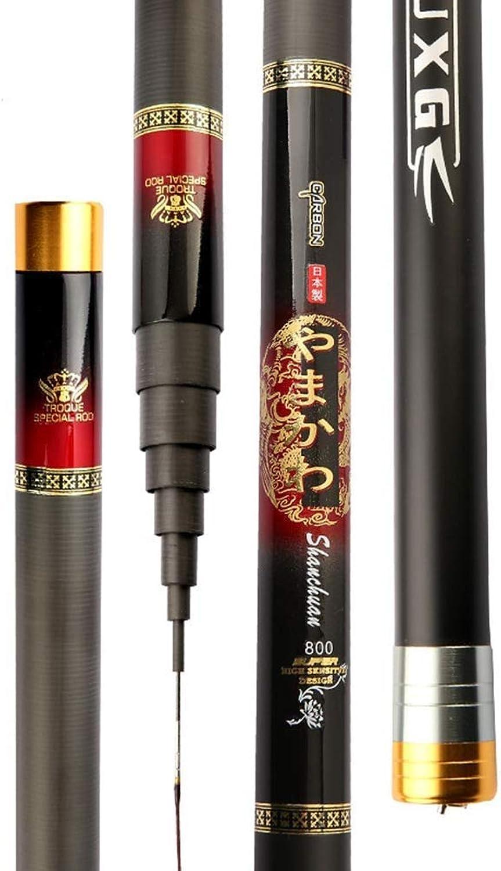 Ultralight Telescopic Fishing Rods,Carbon Fiber Casting Stream Hand Pole 8 9 10 11 12 13 14 15m (Size   10m)
