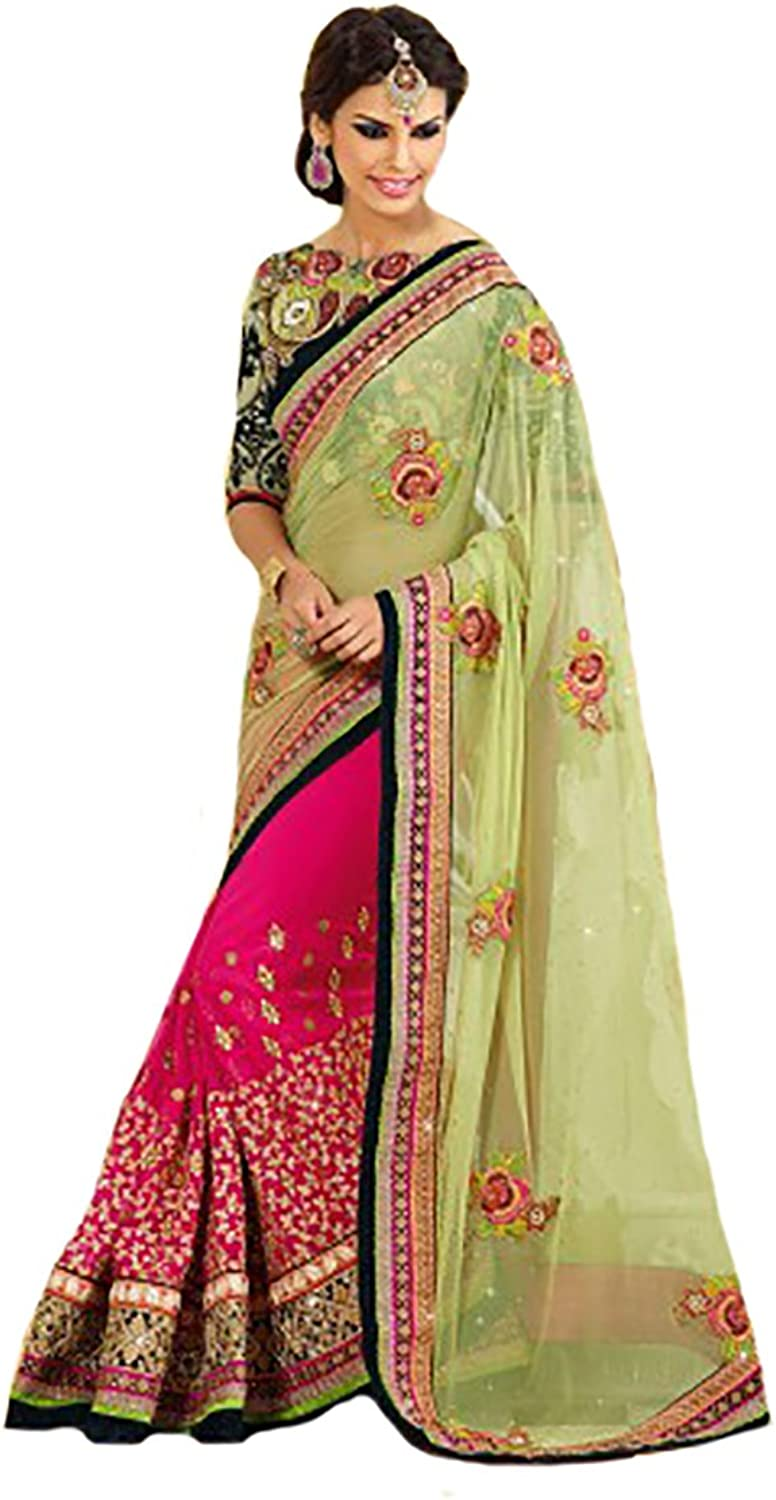 Bridal Party wear Saree Sari Wedding Ceremony Collection Heavy hand work
