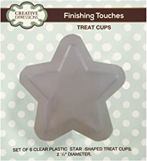 Creative Expressions CETREATSTAR Set of 6 Star Treat Cups