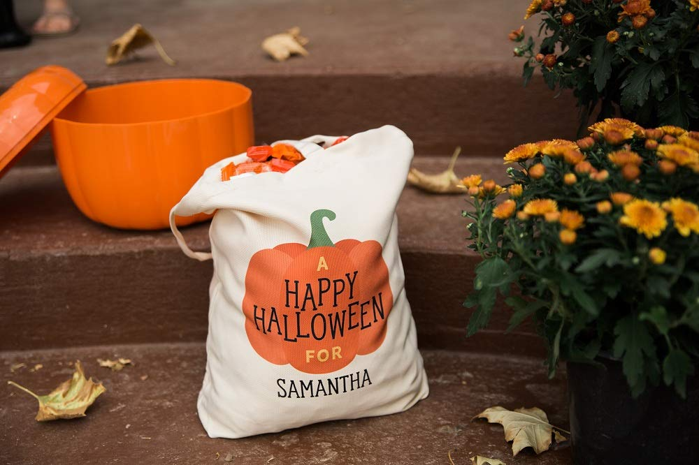 Personalized Trick Or Treat Canvas Bag\u2022Boys Halloween Candy Bag\u2022Girls Hallow Candy Bag\u2022Trick Or Treat Bag\u2022Halloween\u2022Halloween Decor