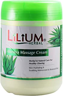 Lilium Herbal Aloevera Massage Cream 900ml With Skin Whitening Cream20ml