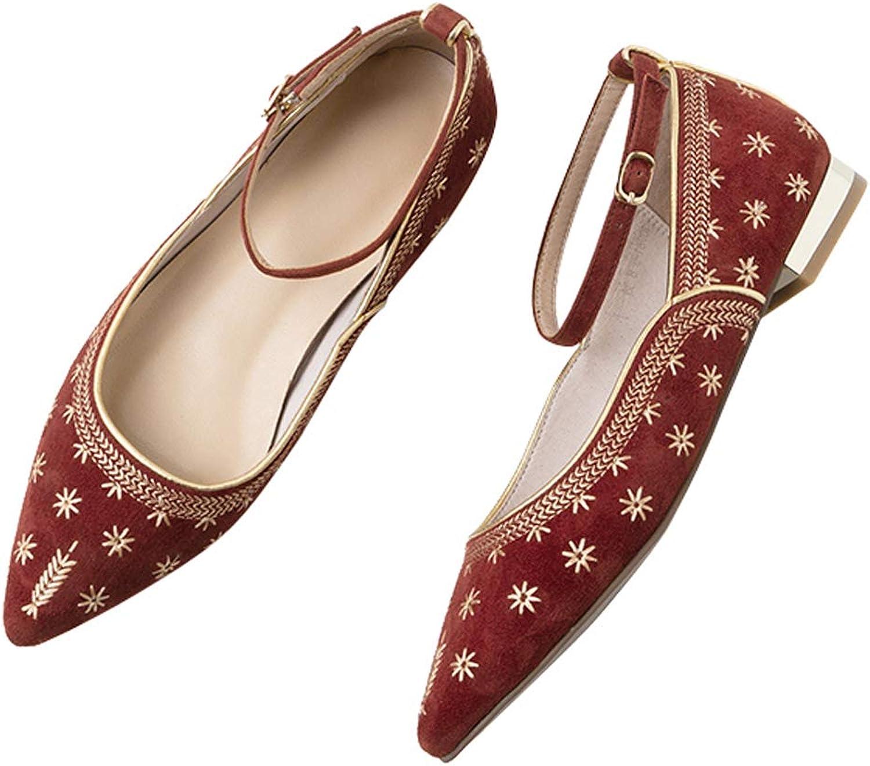 Flache spitze Schuhe Tanzschuhe Pumps Brautjungfer Kleid Schuhe Mary Jane Bestickte
