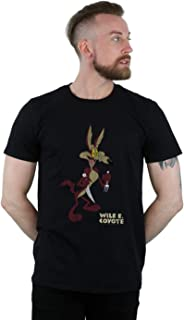 Looney Tunes Men's Wile E Coyote Distressed T-Shirt