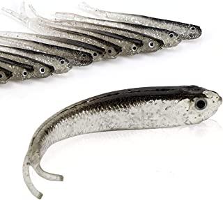 Sponsored Ad - Beoccudo Fishing Lures Bass Bait, Soft Plastic Split Tail Lure Set -24pcs Jerk Minnow Swimbait