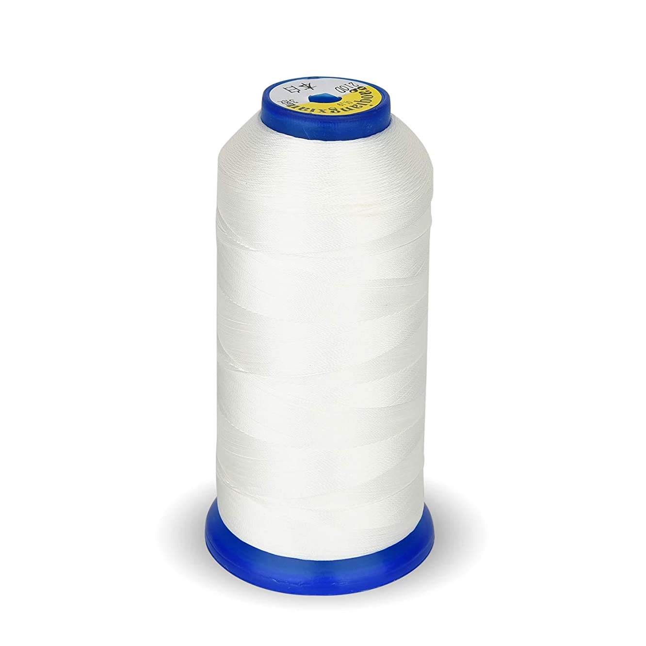 Bonded Nylon Sewing Thread 1800 Yard Size T70#69 210D/3 for Weaves, Upholstery, Jeans and Weaving Hair, Drapery, Beading, Purses, Leather (White)