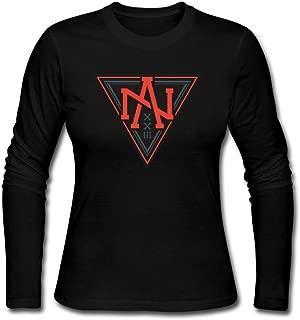 Women's Team North America World Cup Of Hockey Logo Long Sleeve T Shirts/Tee