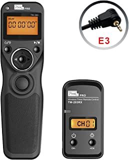 Pixel Remote Timer TW-283/E3 LCD Multi-Function Shutter Remote Release Timer Controller Adapter for Canon EOS DSLR Pentax Contax Cameras