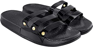 Blinder Womens Flat Slip-On Slipper Slides