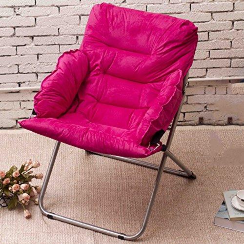 Jack Mall Chaise Pliante Pliante/Chaise Longue/Chaise Sofa Simple/Chaise de Pause déjeuner (Couleur : Rose Rouge)