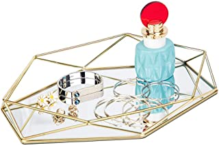 geometric mirror tray