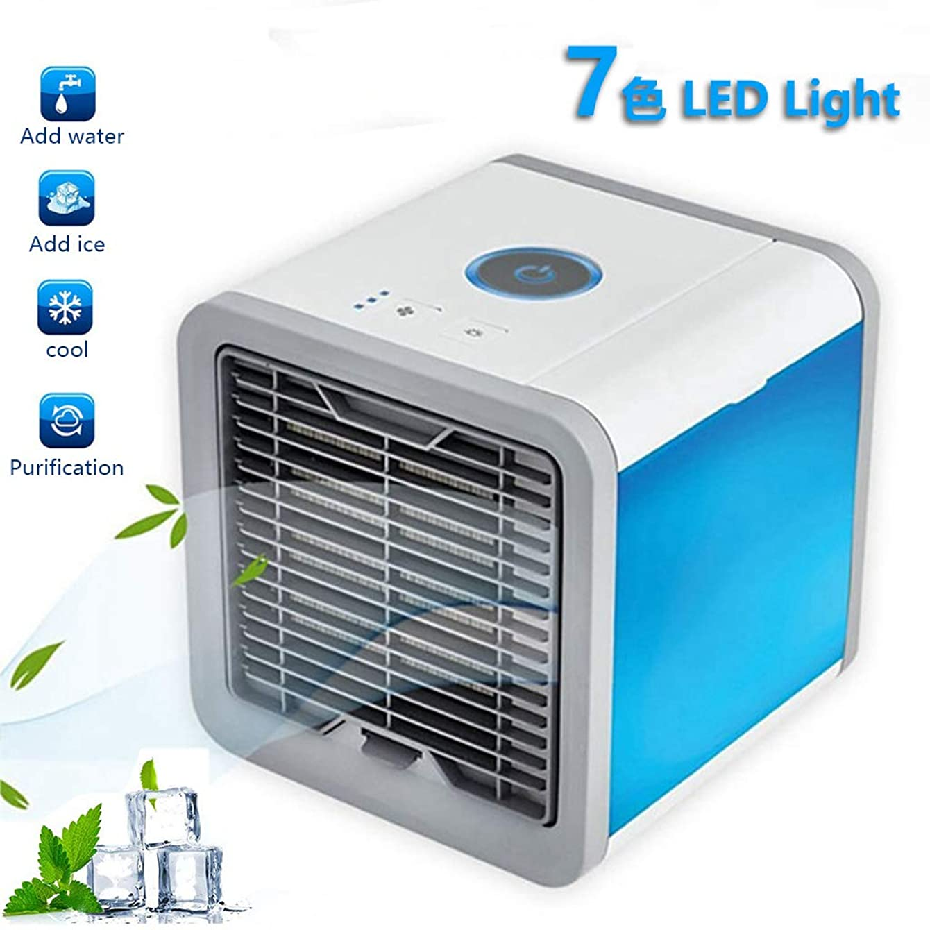 K-Flame Air Cooler New Mini Air Conditioner Portable Fan for Home with USB Muitifunction Air Purifier for Office Bedroom Travel