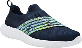 KazarMax XXIV Women's & Girl's Latest Collection, Comfortable & Fashionable Navy Floral Printed Slipon's Socks Sneakers/Trainers