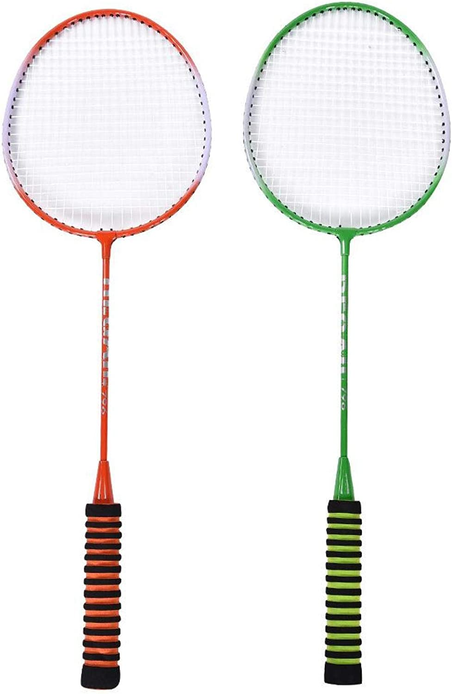 Emoshayoga Fees free Durable Badminton Racket Set Nashville-Davidson Mall B with Racquets Training
