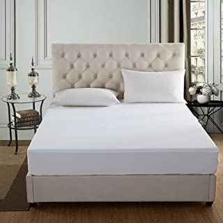 JML Waterproof Mattress Protector Queen Size and Breathable Fitted Mattress Cover with Deep Pocket Fits 12 to 18 Bed Cover