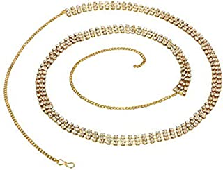 Goldfish Kamar Band Three Line Gold Plated Stylish Belly Chain Kamarband for Girls Women Saree