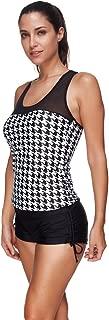 Hot Item Women Tankini Sets Boy Shorts Striped Swimwear Two Piece Swimsuits Classic Polka Dot Bikini Tank Tops